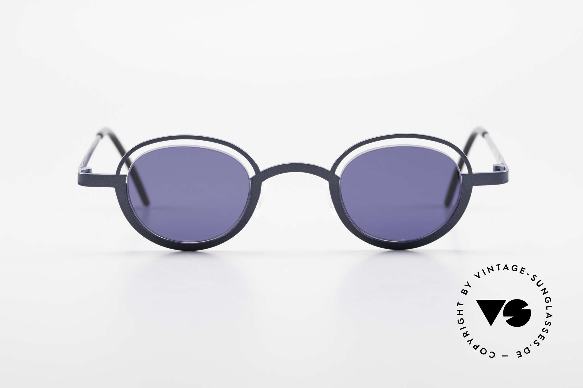 """Theo Belgium Dozy Slim Crazy 90's Unisex Sunglasses, fancy model: """"rimless"""" & """"rimmed"""" at the same time, Made for Men and Women"""
