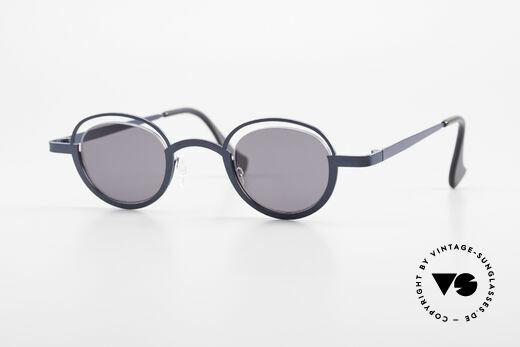 Theo Belgium Dozy Slim 90s Crazy Designer Sunglasses Details