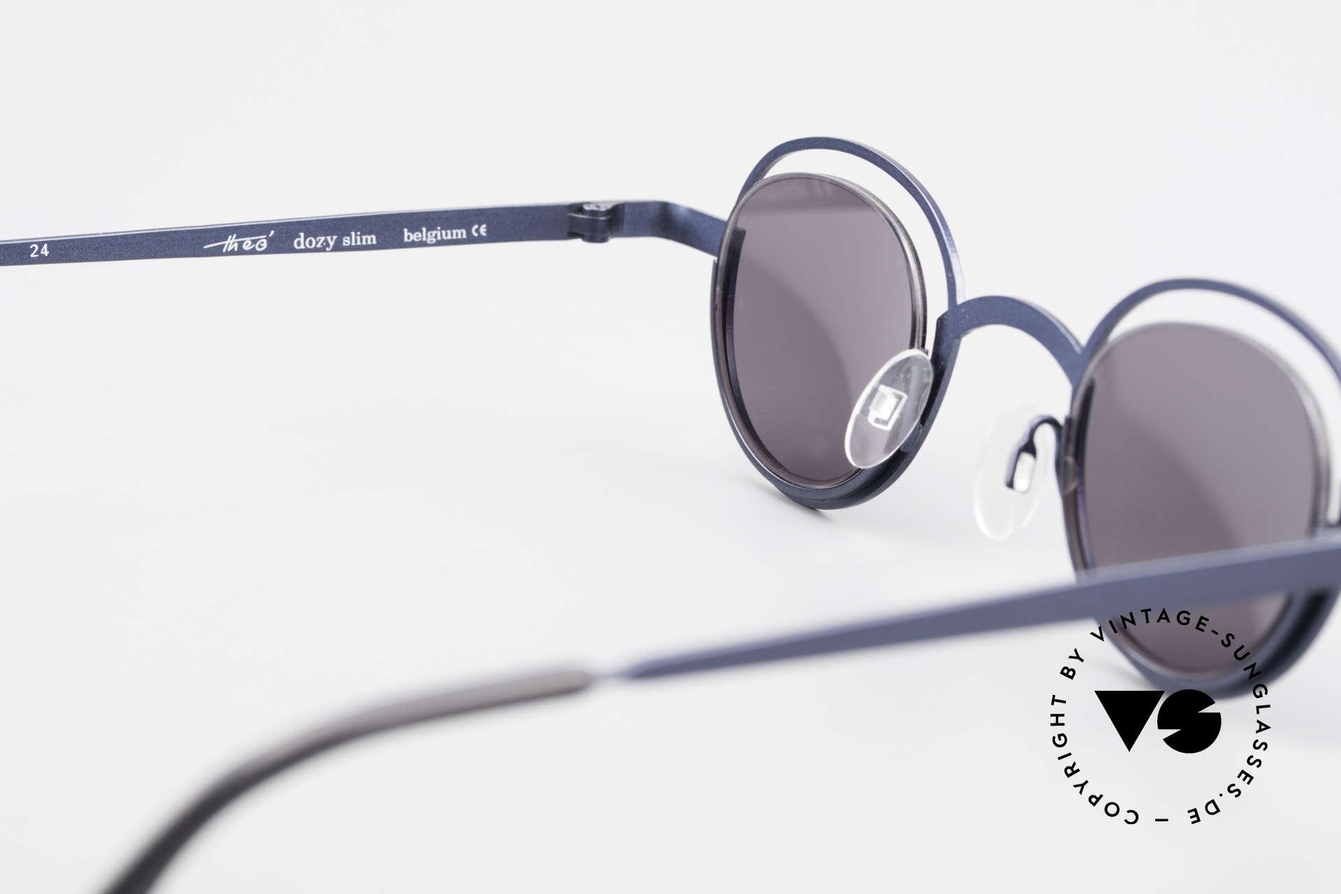 Theo Belgium Dozy Slim 90s Crazy Designer Sunglasses, NO RETRO frame; but a rare 20 years old ORIGINAL, Made for Men and Women