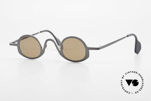 Theo Belgium Circle Avant-Garde Sunglasses 90's Details