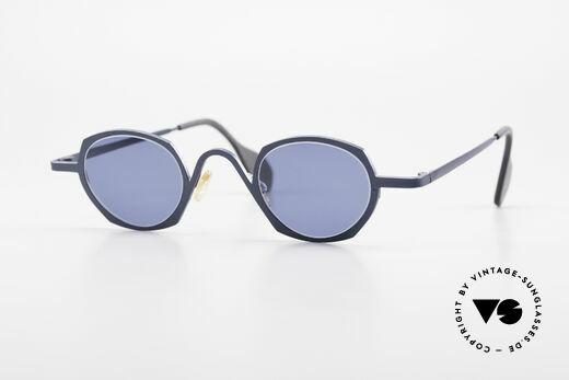 Theo Belgium Flower Round 90s Designer Sunglasses Details