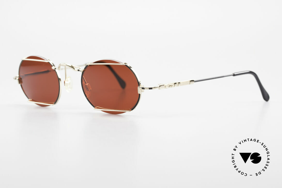 Cazal 781 Vintage Designer Sunglassses, round and angular design, at the same time, Made for Men and Women