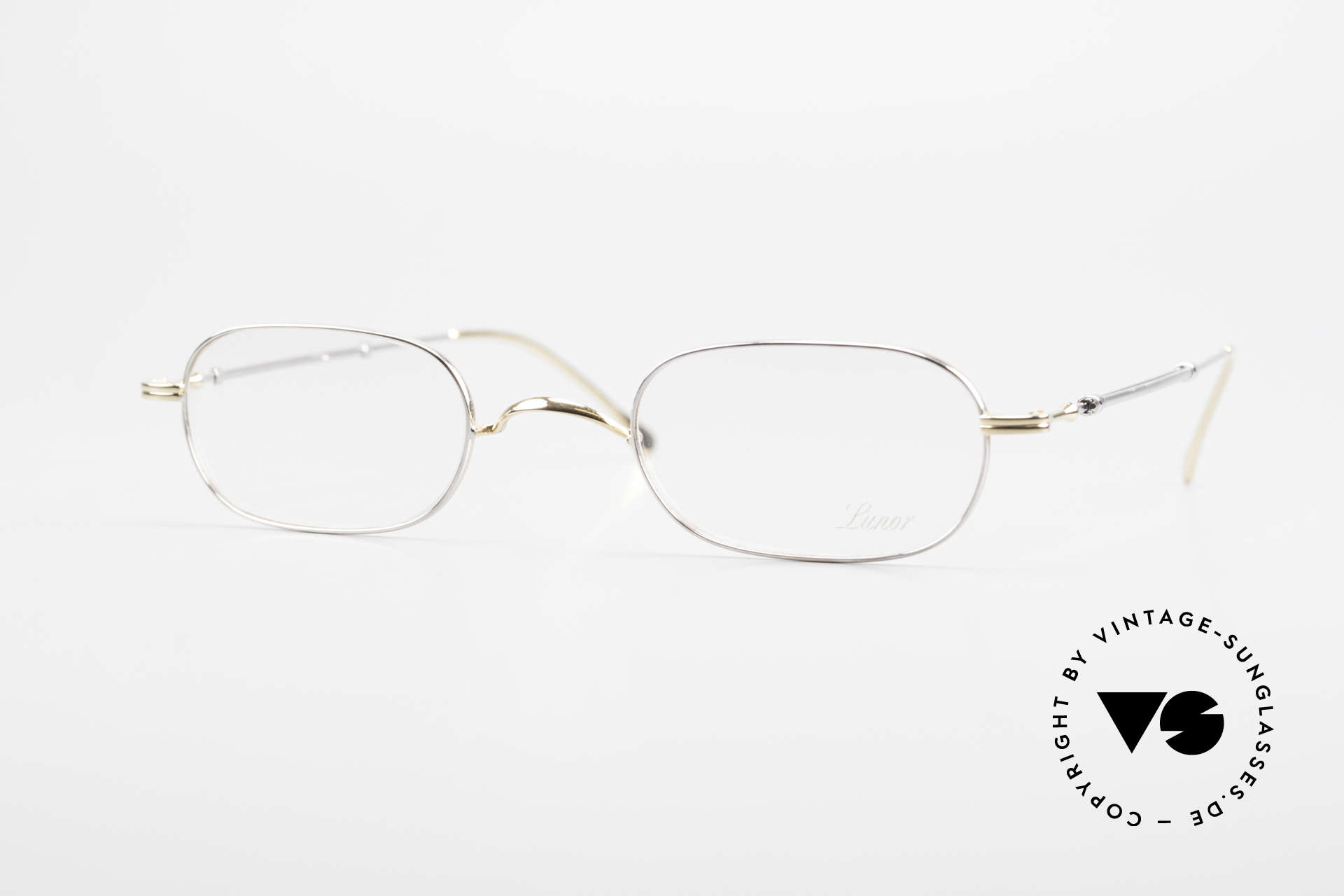 """Lunor Telescopic 403 BC Extendable Frame For Gents, Lunor: shortcut for French """"Lunette d'Or"""" (gold glasses), Made for Men"""