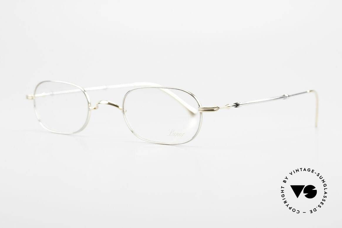 "Lunor - Telescopic Extendable Frame For Gents, well-known for the ""W-bridge"" & the plain frame designs, Made for Men"