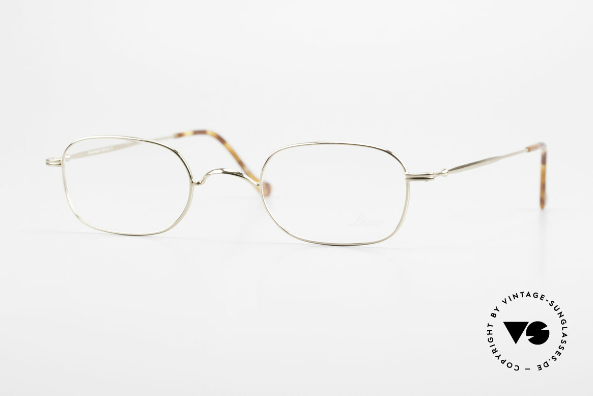 """Lunor 322 Classic Vintage Eyeglasses 90s, LUNOR: shortcut for French """"Lunette d'Or"""" (gold glasses), Made for Men and Women"""