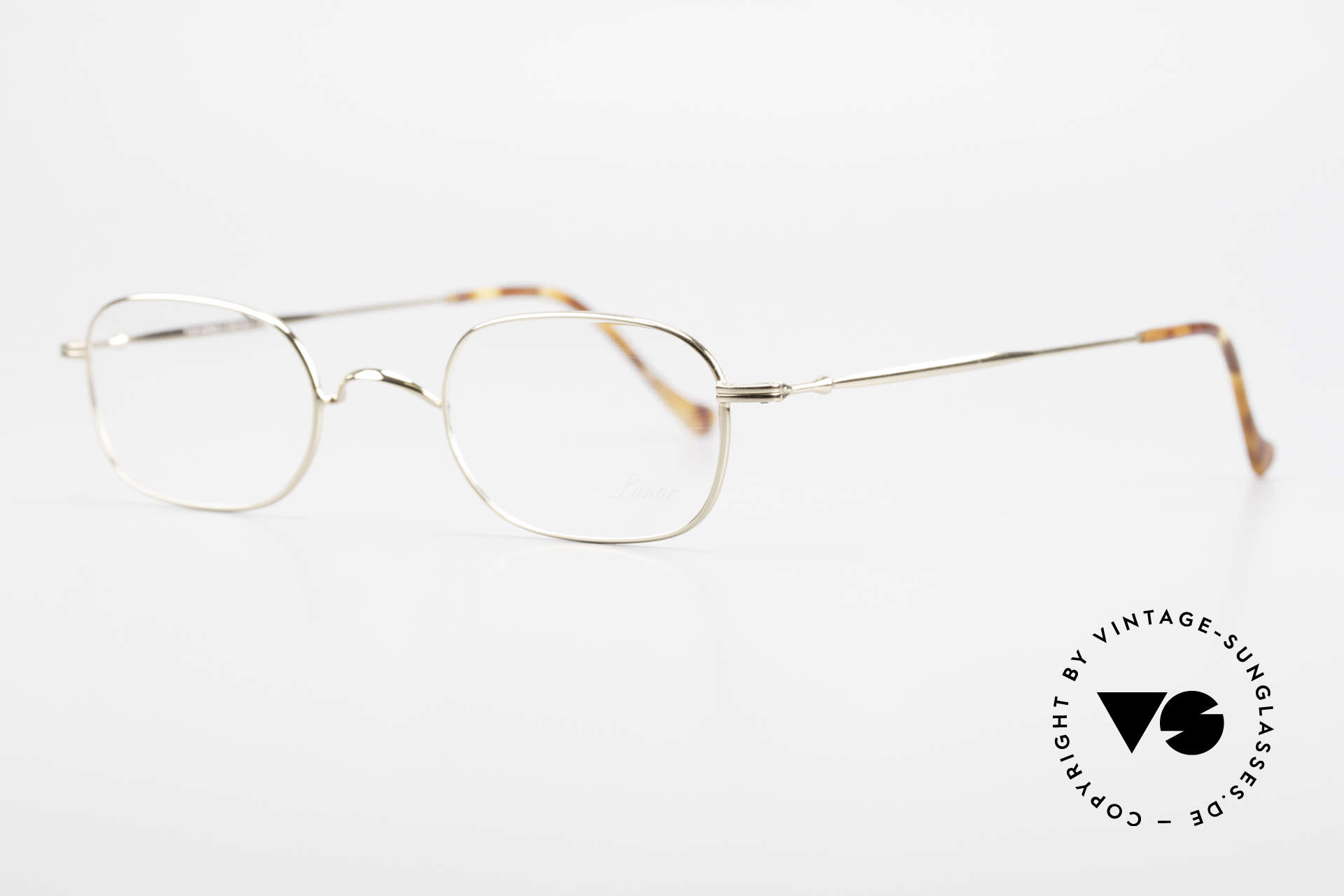 """Lunor 322 Classic Vintage Eyeglasses 90s, well-known for the """"W-bridge"""" & the plain frame designs, Made for Men and Women"""