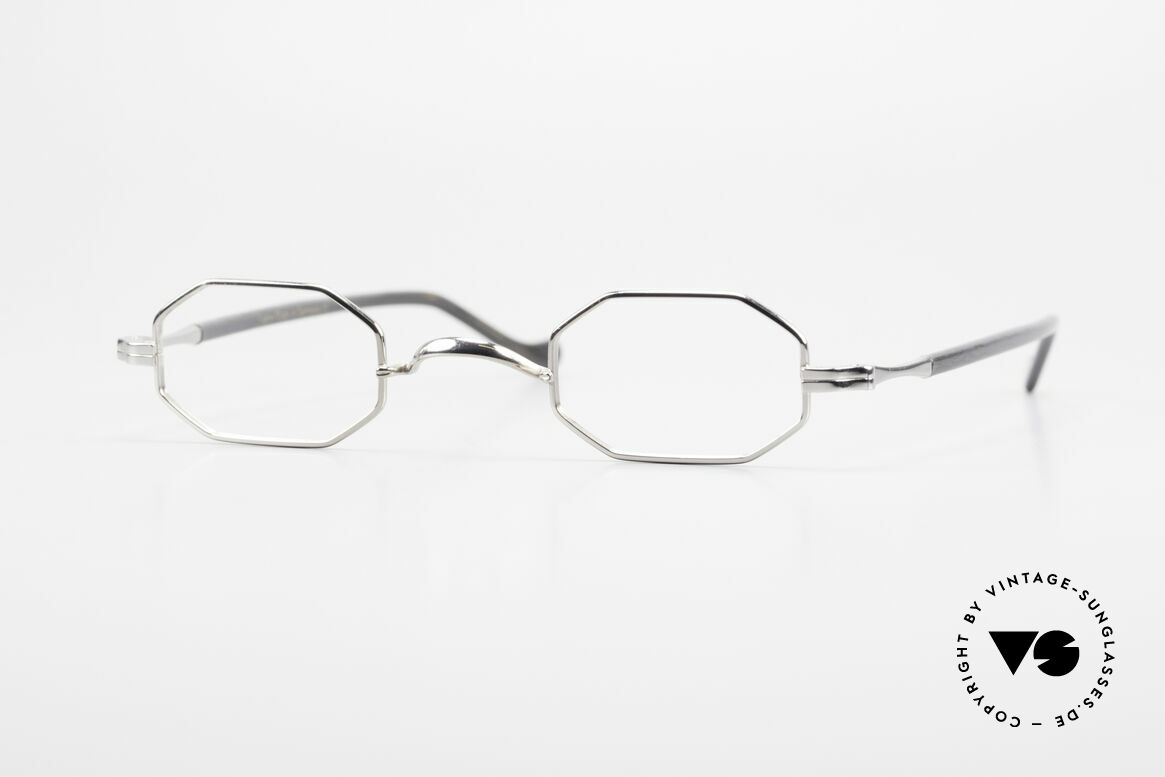 "Lunor Octag II-A Octagonal Vintage Eyeglasses, Lunor: shortcut for French ""Lunette d'Or"" (gold glasses), Made for Men and Women"