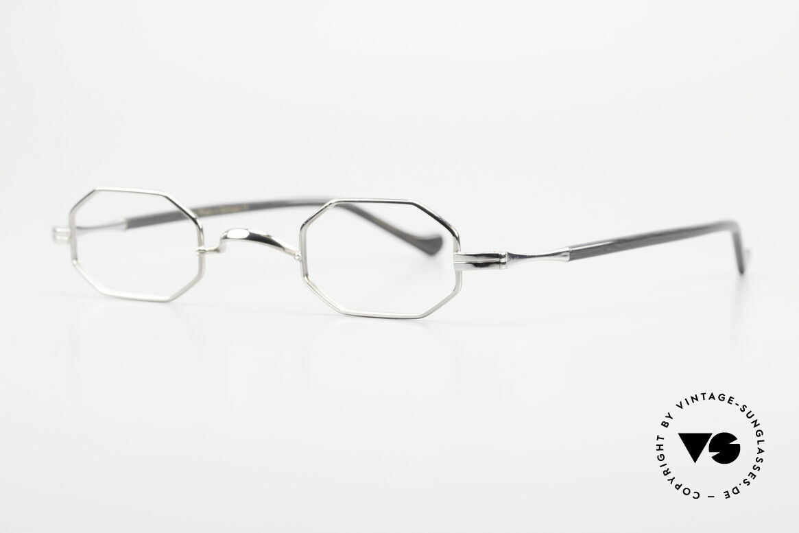 "Lunor Octag II-A Octagonal Vintage Eyeglasses, well-known for the ""W-bridge"" & the plain frame designs, Made for Men and Women"