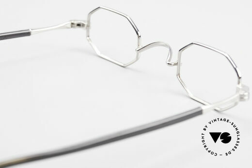Lunor Octag II-A Octagonal Vintage Eyeglasses, the octagonal LUNOR frame comes with an original case, Made for Men and Women
