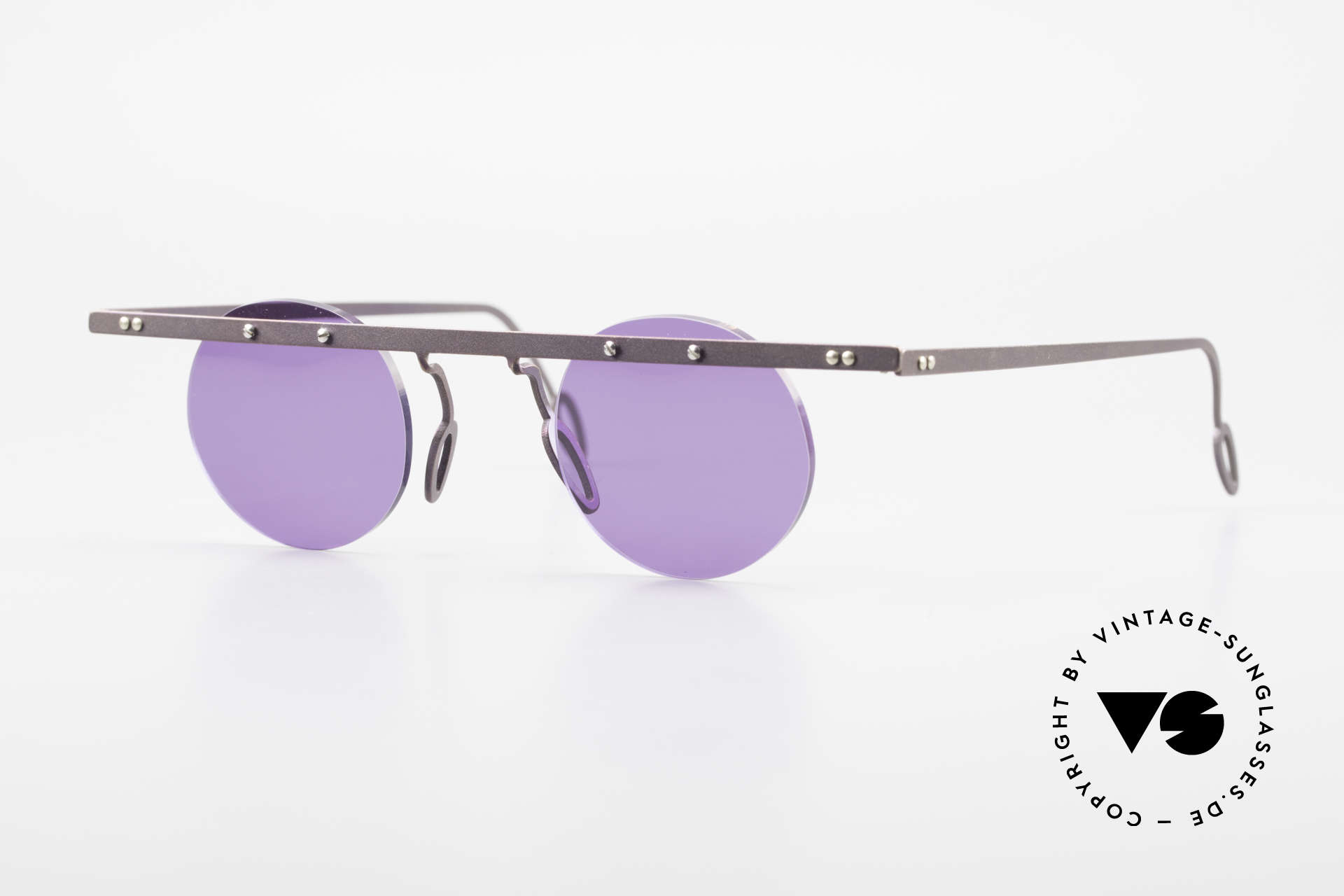 Theo Belgium Tita VII 5 Vintage Titanium Sunglasses, Theo Belgium: the most self-willed brand in the world, Made for Men and Women