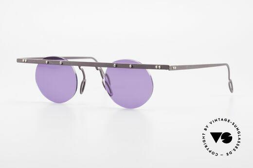 Theo Belgium Tita VII 5 Vintage Titanium Sunglasses Details