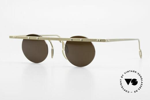Theo Belgium Tita VII 10 Crazy Titanium Sunglasses 90s Details