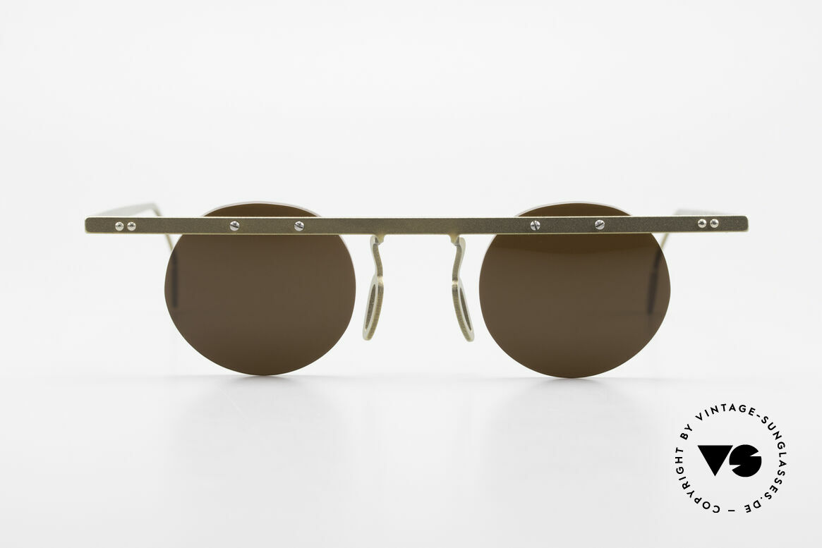 Theo Belgium Tita VII 10 Crazy Titanium Sunglasses 90s, founded in 1989 as 'anti mainstream' eyewear / glasses, Made for Men and Women