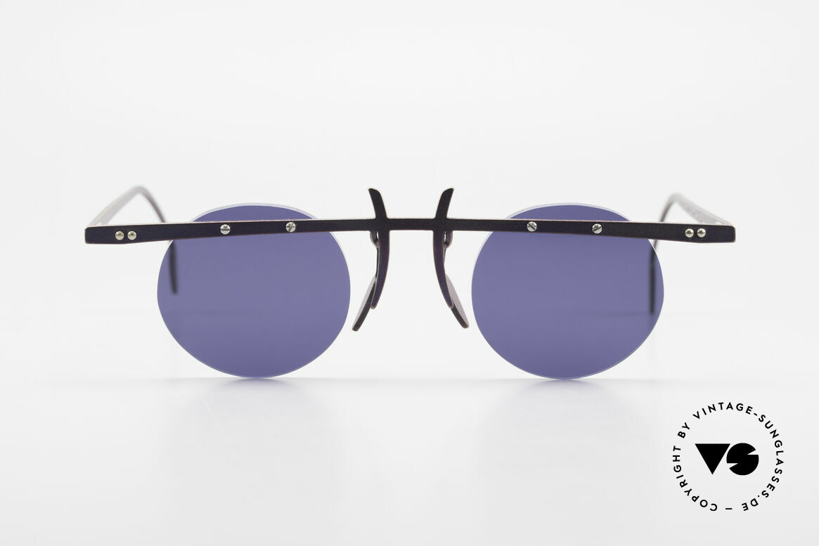 Theo Belgium Tita VI 4 Crazy Sunglasses Titanium 90s, founded in 1989 as 'anti mainstream' eyewear / glasses, Made for Men and Women