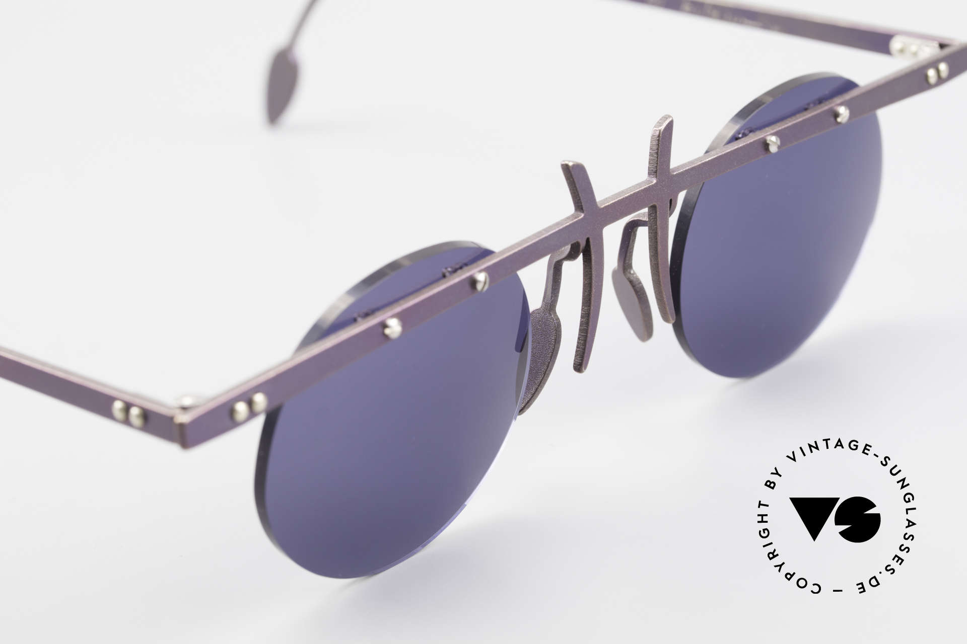 Theo Belgium Tita VI 4 Crazy Sunglasses Titanium 90s, an old, unworn THEO original and NO RETRO EYEWEAR, Made for Men and Women