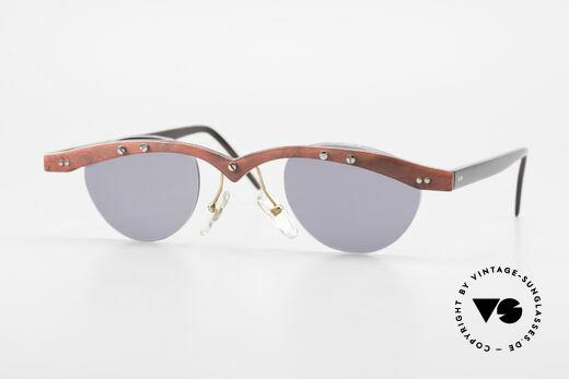 Theo Belgium Gamma 90's Buffalo Horn Sunglasses Details