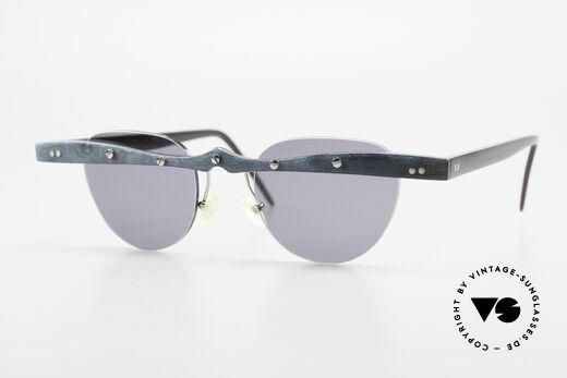 Theo Belgium Upsylon 90's Buffalo Horn Sunglasses Details