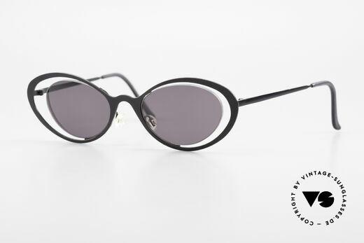Theo Belgium LuLu Rimless Cateye Sunglasses 90s Details