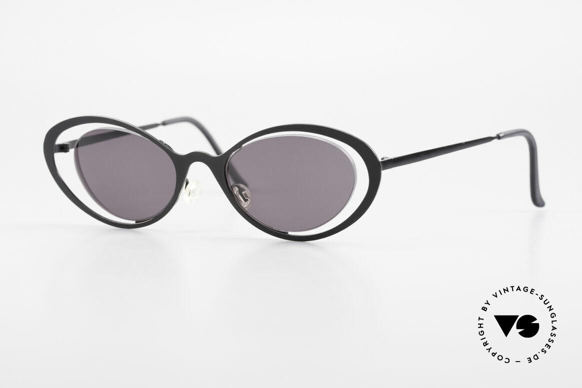 Theo Belgium LuLu Rimless Cateye Sunglasses 90s, vintage THEO Belgium sunglasses from approx. 1997, Made for Women
