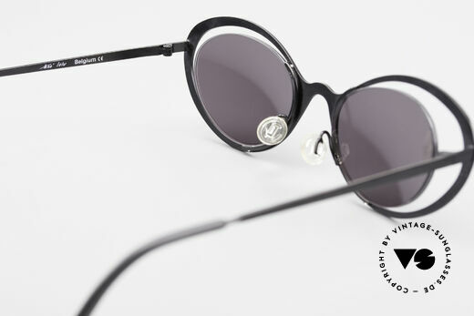 Theo Belgium LuLu Rimless Cateye Sunglasses 90s, NO RETRO frame; but a rare 20 years old ORIGINAL, Made for Women