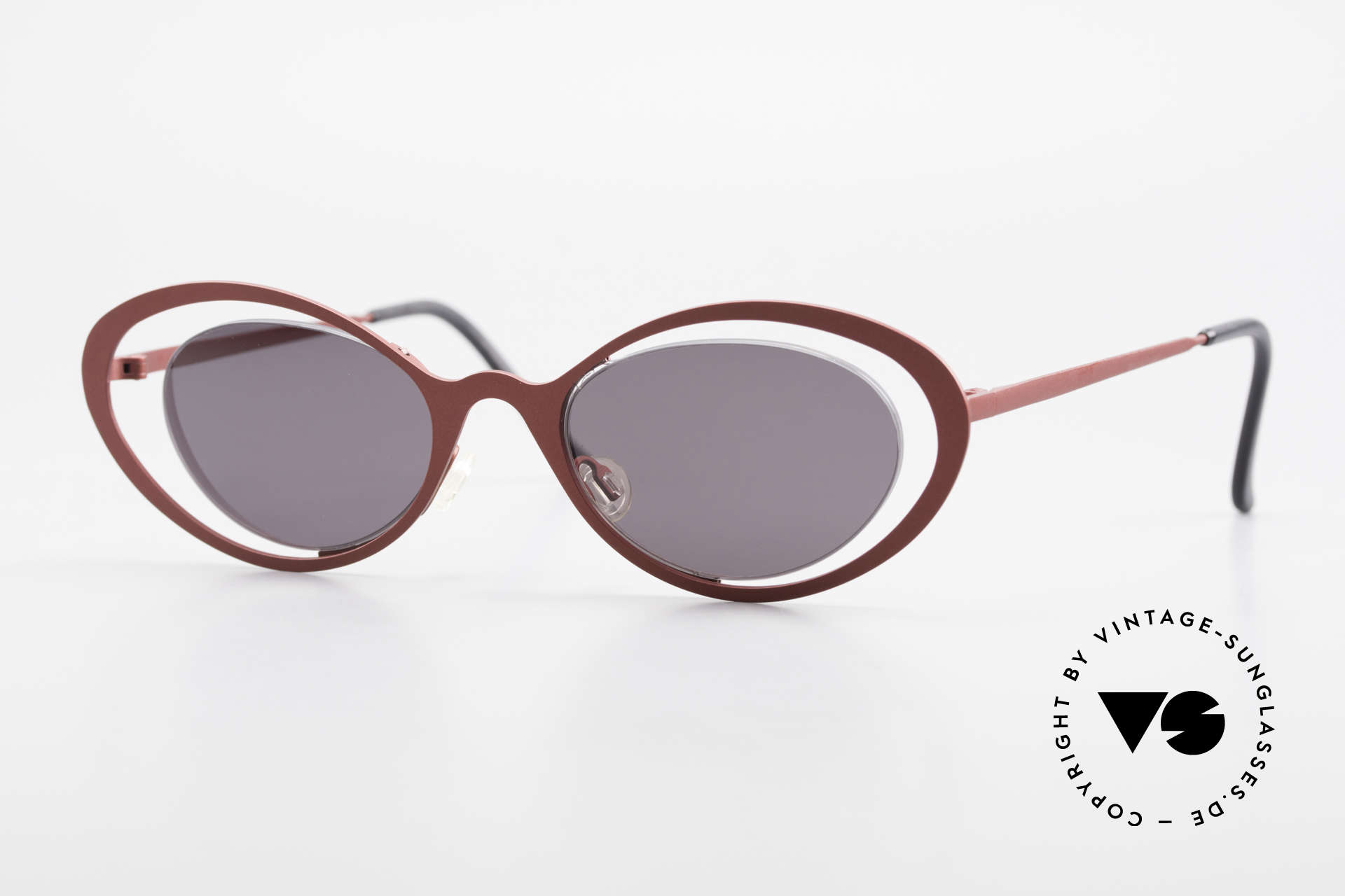 Theo Belgium LuLu Rimless Cateye Shades 90's, vintage THEO Belgium sunglasses from approx. 1997, Made for Women