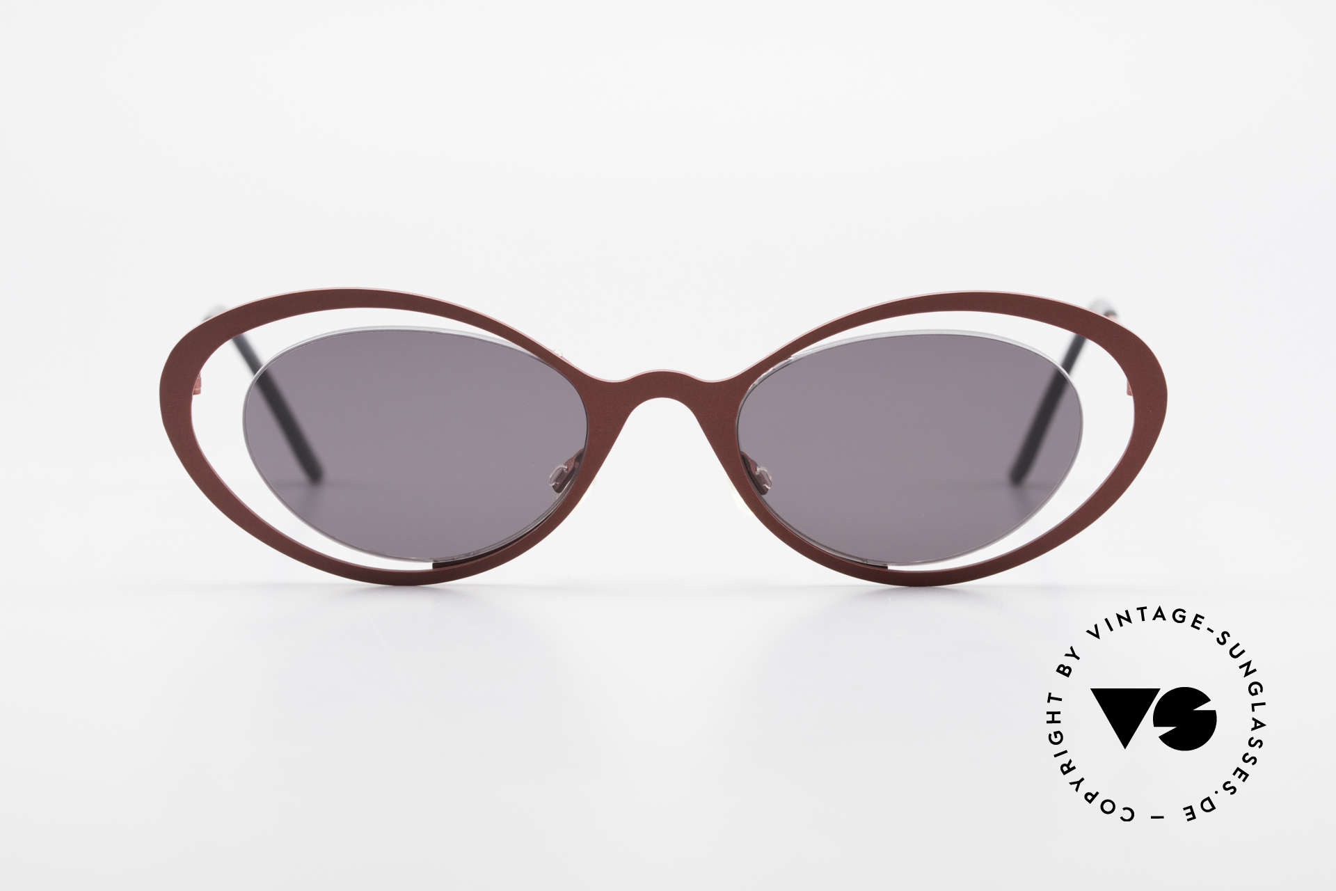 """Theo Belgium LuLu Rimless Cateye Shades 90's, fancy model: """"rimless"""" & """"rimmed"""" at the same time, Made for Women"""