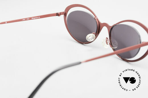 Theo Belgium LuLu Rimless Cateye Shades 90's, NO RETRO shades; but a rare 20 years old ORIGINAL, Made for Women