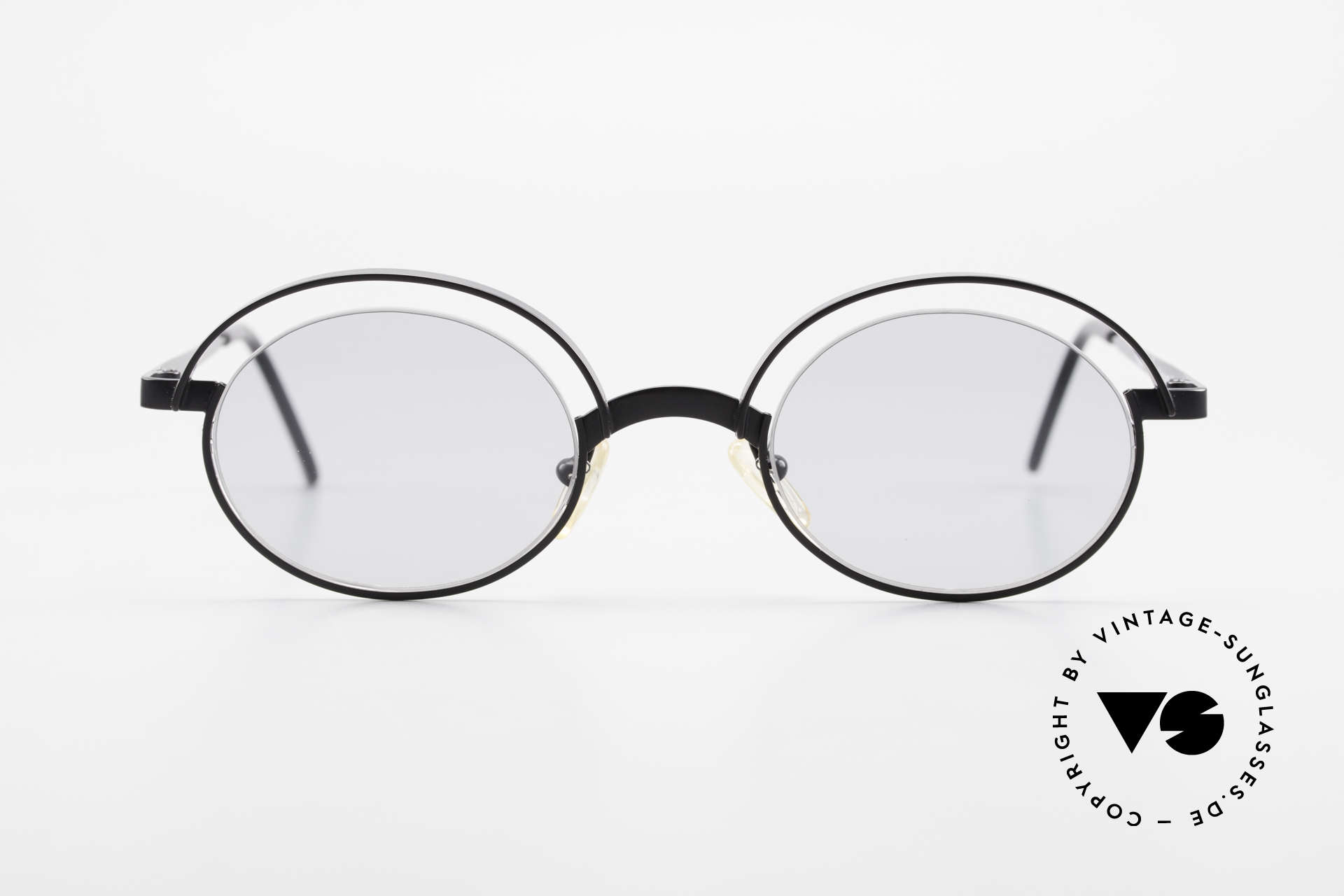 """Theo Belgium Lady 90s Crazy Designer Sunglasses, fancy model: """"rimless"""" & """"rimmed"""" at the same time, Made for Women"""