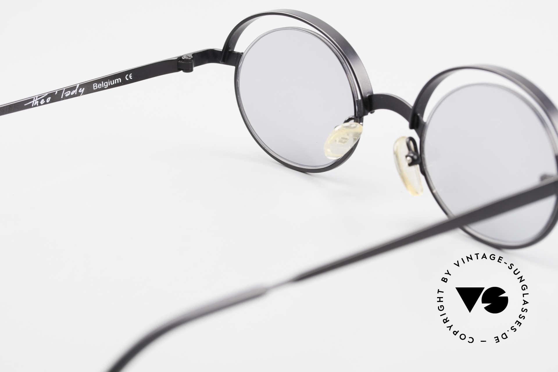 Theo Belgium Lady 90s Crazy Designer Sunglasses, NO RETRO frame; but a rare 20 years old ORIGINAL, Made for Women