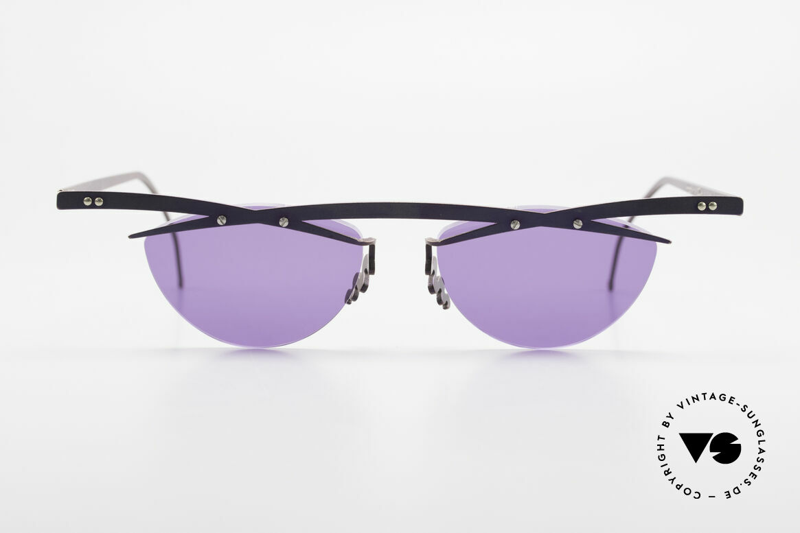 Theo Belgium Tita III 4 XL Crazy Vintage Sunglasses, founded in 1989 as 'anti mainstream' eyewear / glasses, Made for Men and Women