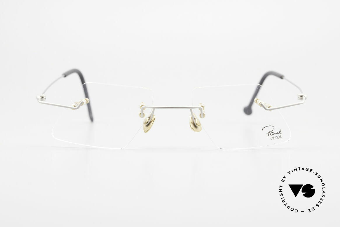 Paul Chiol 2001 Unique Rimless Eyeglasses, a synonym for sophisticated rimless spectacles, Made for Men and Women