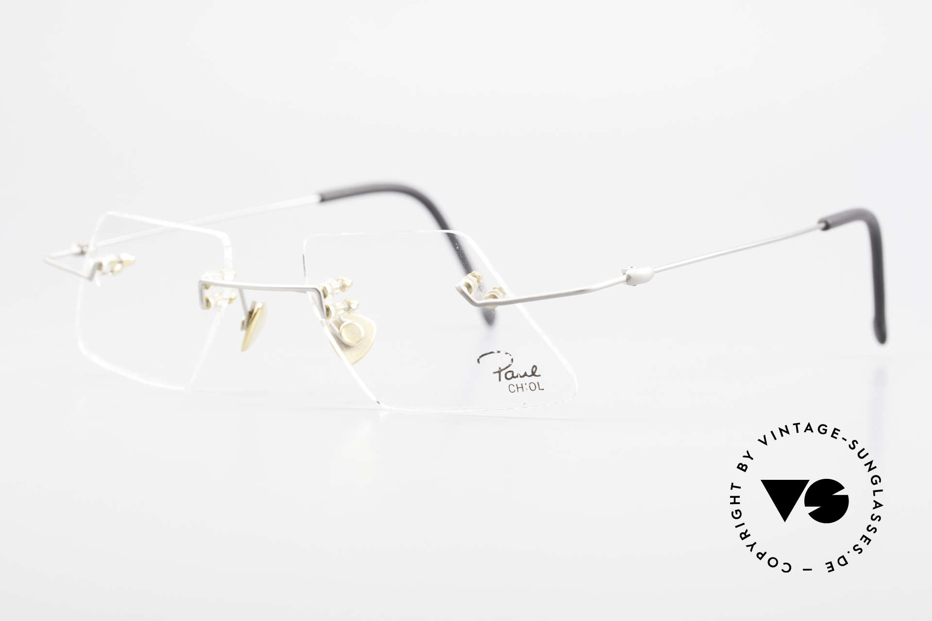 Paul Chiol 2001 Unique Rimless Eyeglasses, filigree & cleverly devised design; simply chichi, Made for Men and Women
