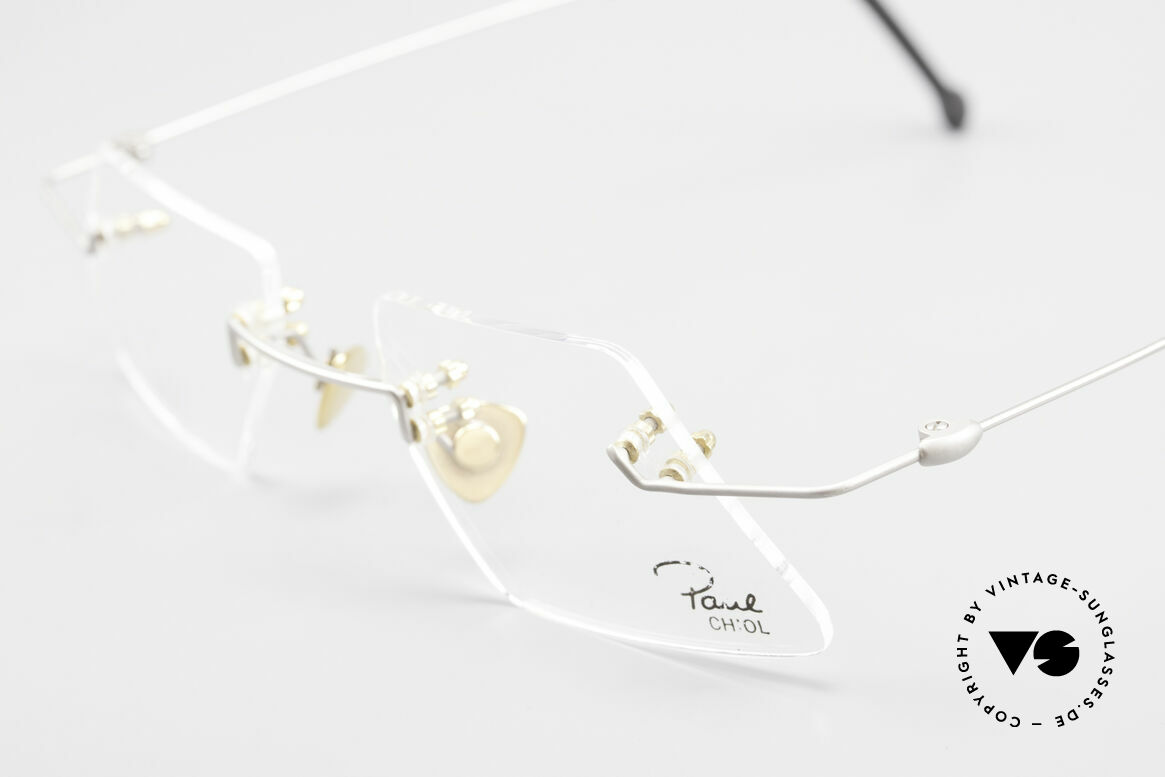 Paul Chiol 2001 Unique Rimless Eyeglasses, an unworn masterpiece with orig. DEMO lenses, Made for Men and Women