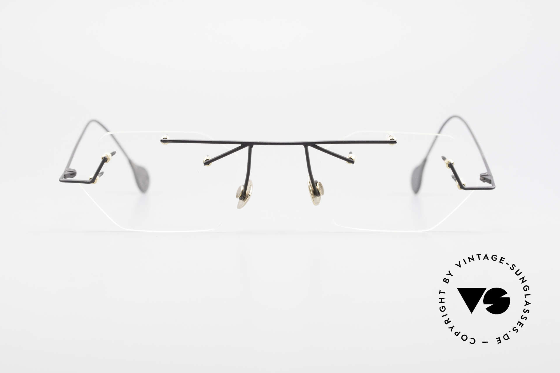 Paul Chiol 1998 Artful Rimless Eyeglasses 90's, a synonym for sophisticated rimless spectacles, Made for Men and Women