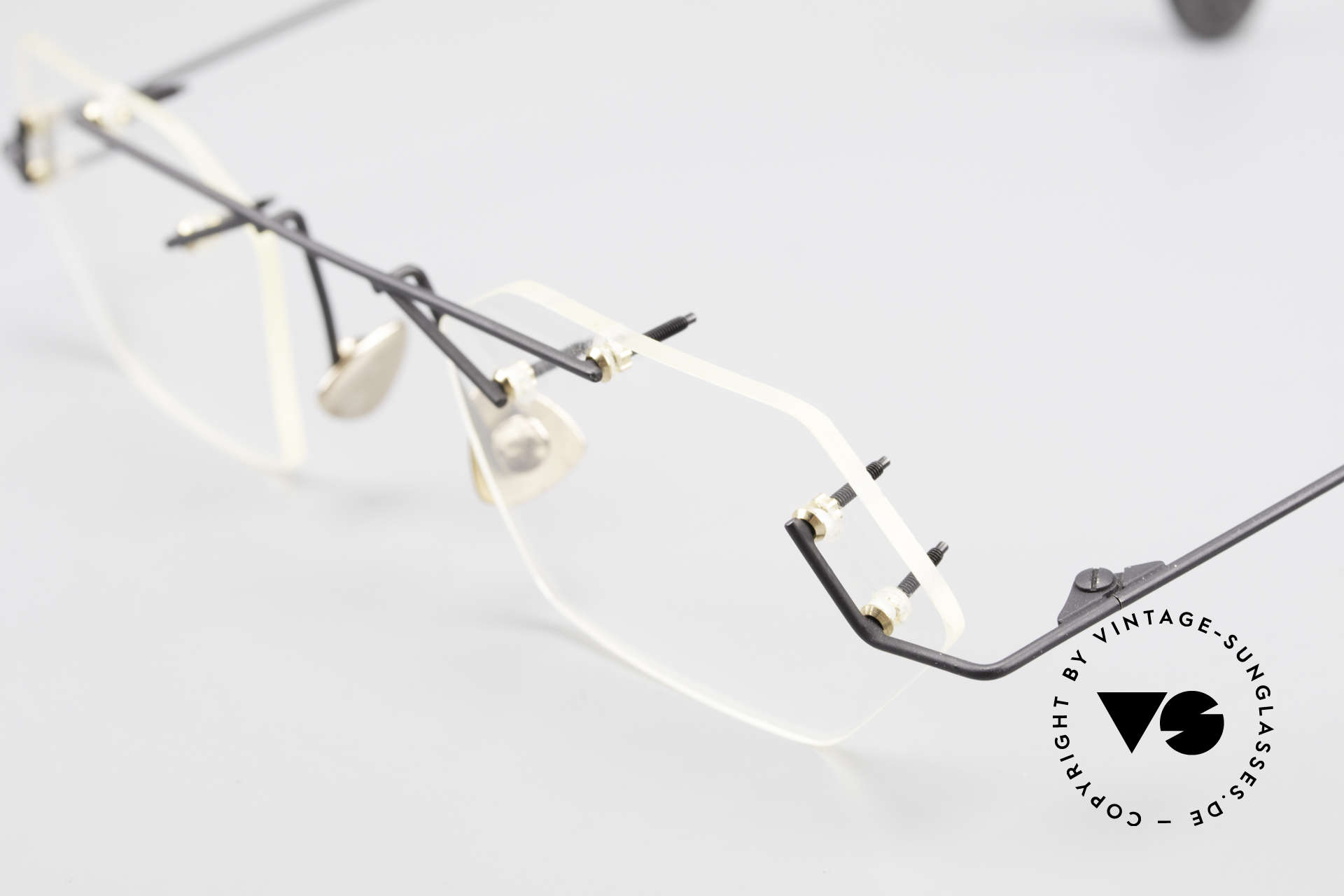Paul Chiol 1998 Artful Rimless Eyeglasses 90's, an unworn masterpiece with orig. DEMO lenses, Made for Men and Women