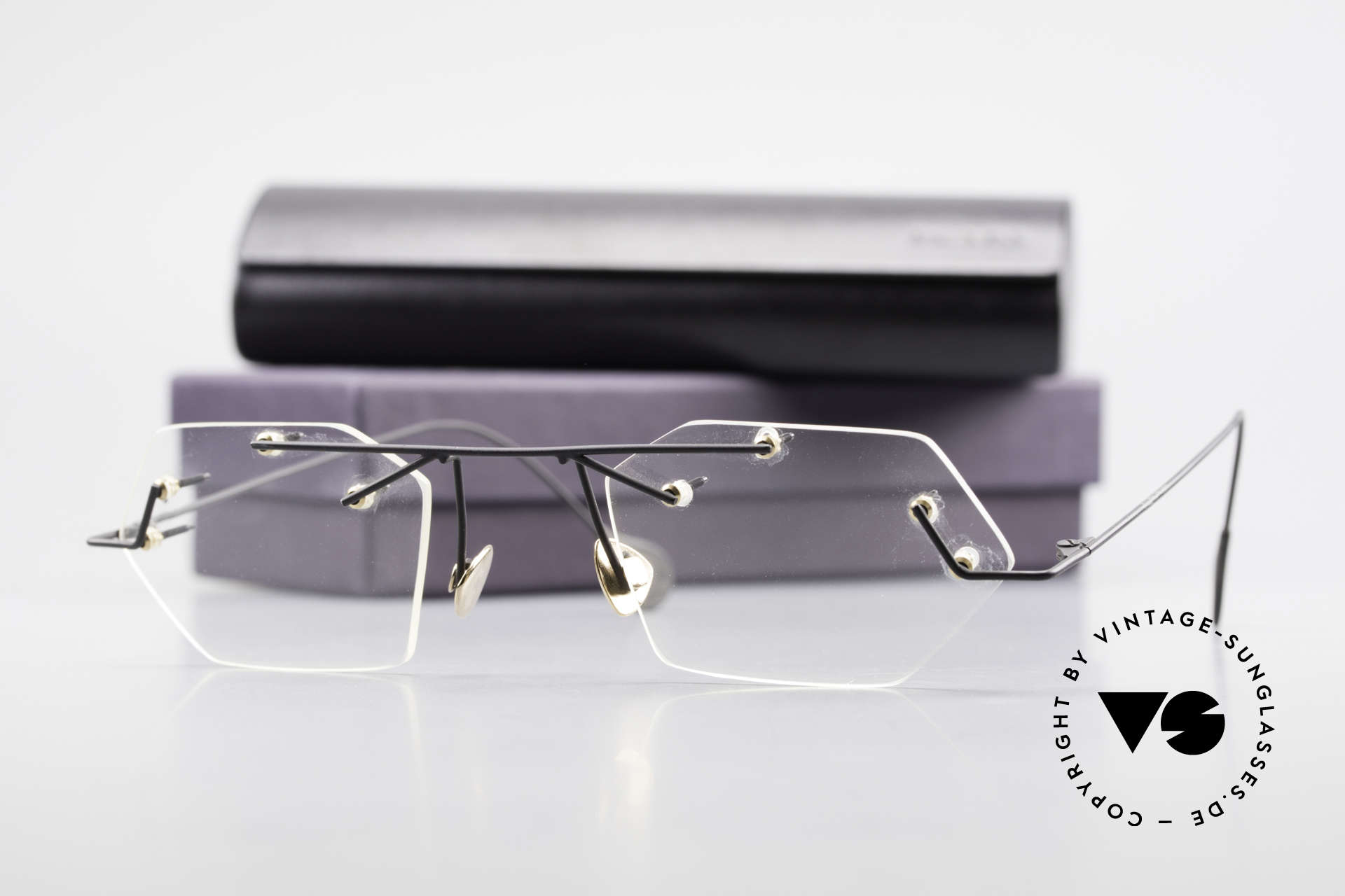 Paul Chiol 1998 Artful Rimless Eyeglasses 90's, Size: medium, Made for Men and Women