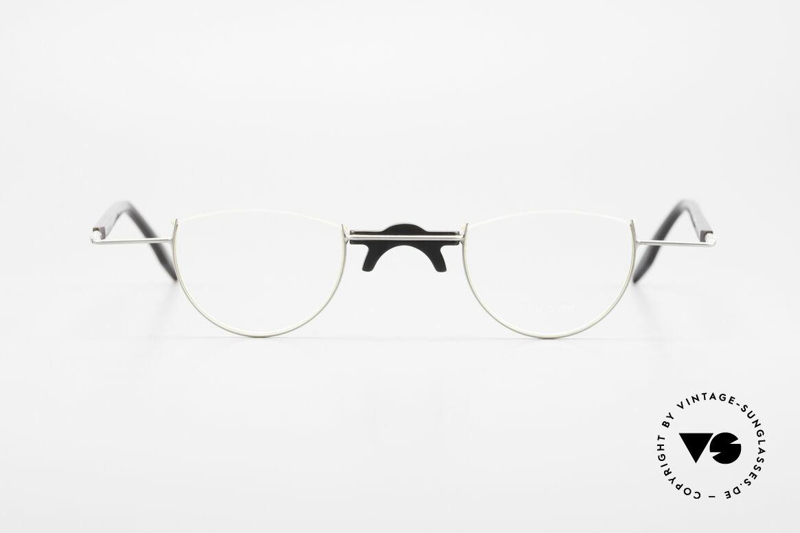 Wolfgang Katzer Fil 5 Genuine Horn Reading Glasses, precious 1990's eyeglass-frame by Wolfgang Katzer, Made for Men