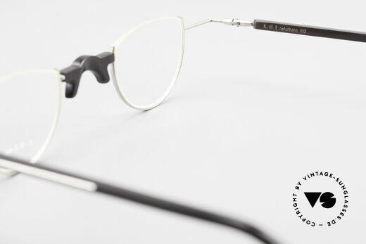 Wolfgang Katzer Fil 5 Genuine Horn Reading Glasses, never been worn; made for optical lenses, + orig. case, Made for Men