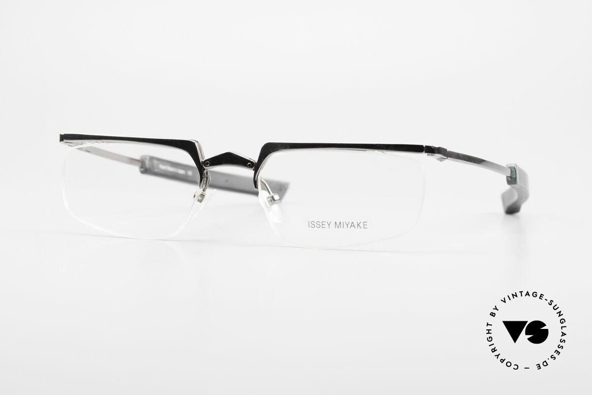 Issey Miyake 01 Alain Mikli Folding Designer Eyeglasses, interesting vintage folding glasses of the 90's, Made for Men and Women