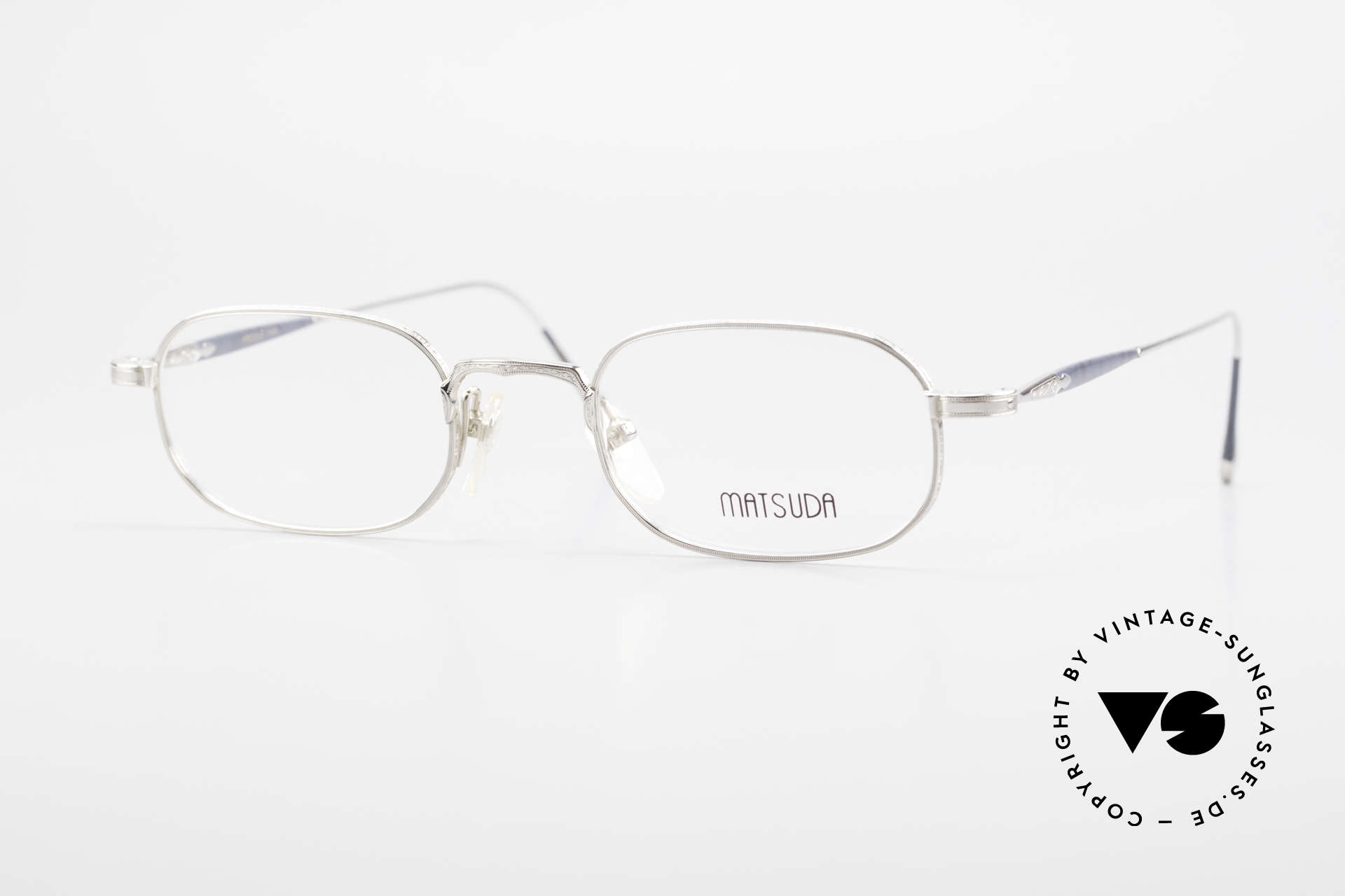 Matsuda 10108 90's Men's Eyeglasses High End, vintage Matsuda designer eyeglasses from the mid 90's, Made for Men