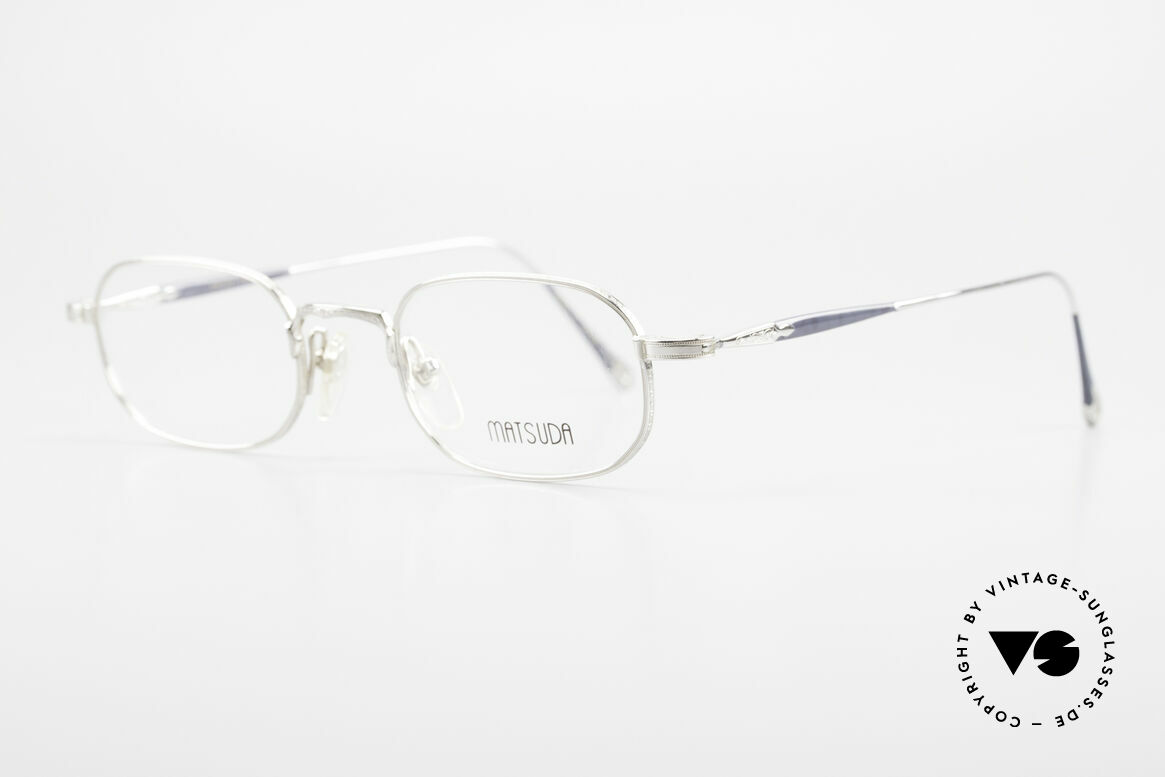Matsuda 10108 90's Men's Eyeglasses High End, the full metal frame is decorated with tiny engravings, Made for Men