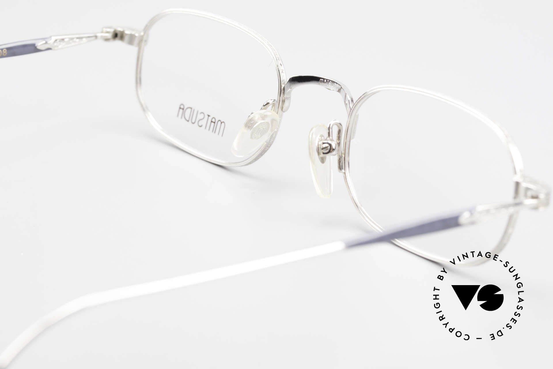 Matsuda 10108 90's Men's Eyeglasses High End, the DEMO lenses can be replaced with lenses of any kind, Made for Men
