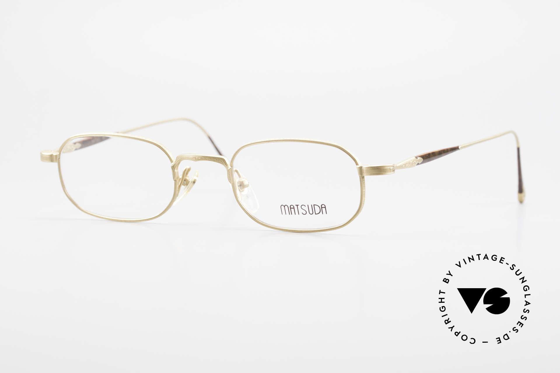 Matsuda 10108 Men's Eyeglasses 90's High End, vintage Matsuda designer eyeglasses from the mid 90's, Made for Men