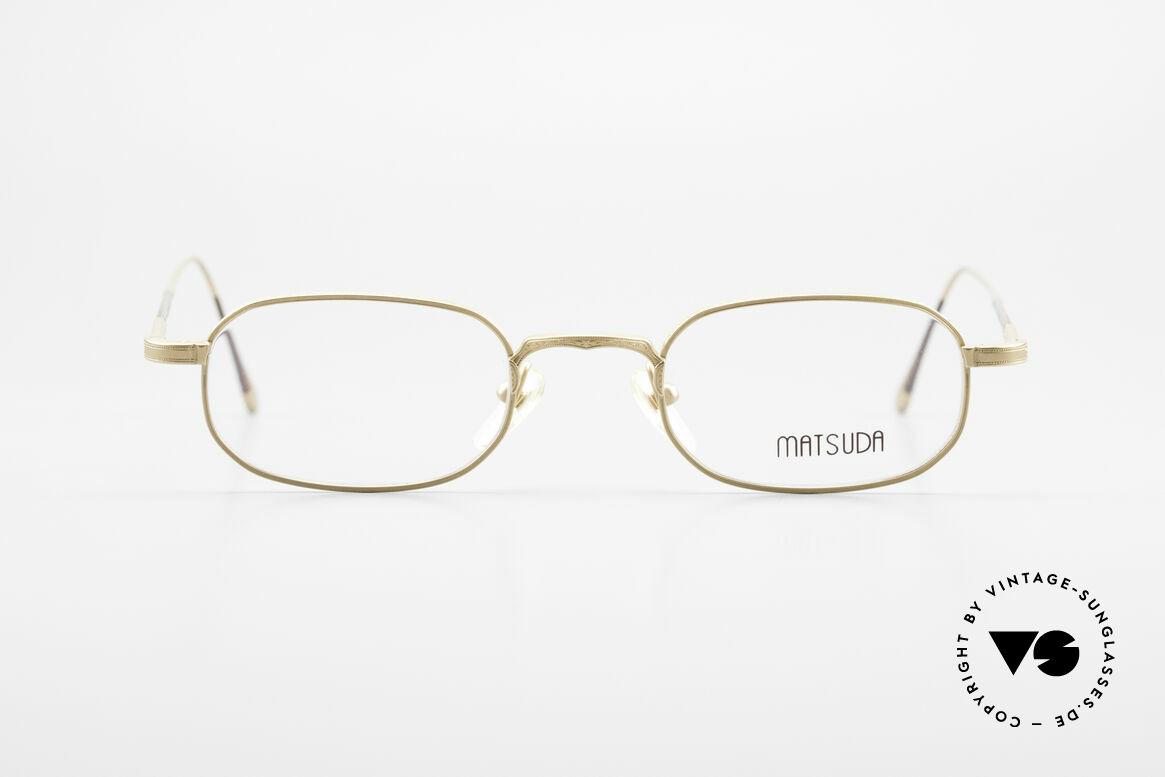 Matsuda 10108 Men's Eyeglasses 90's High End, unbelievable craftsmanship, top-notch, made in Japan, Made for Men