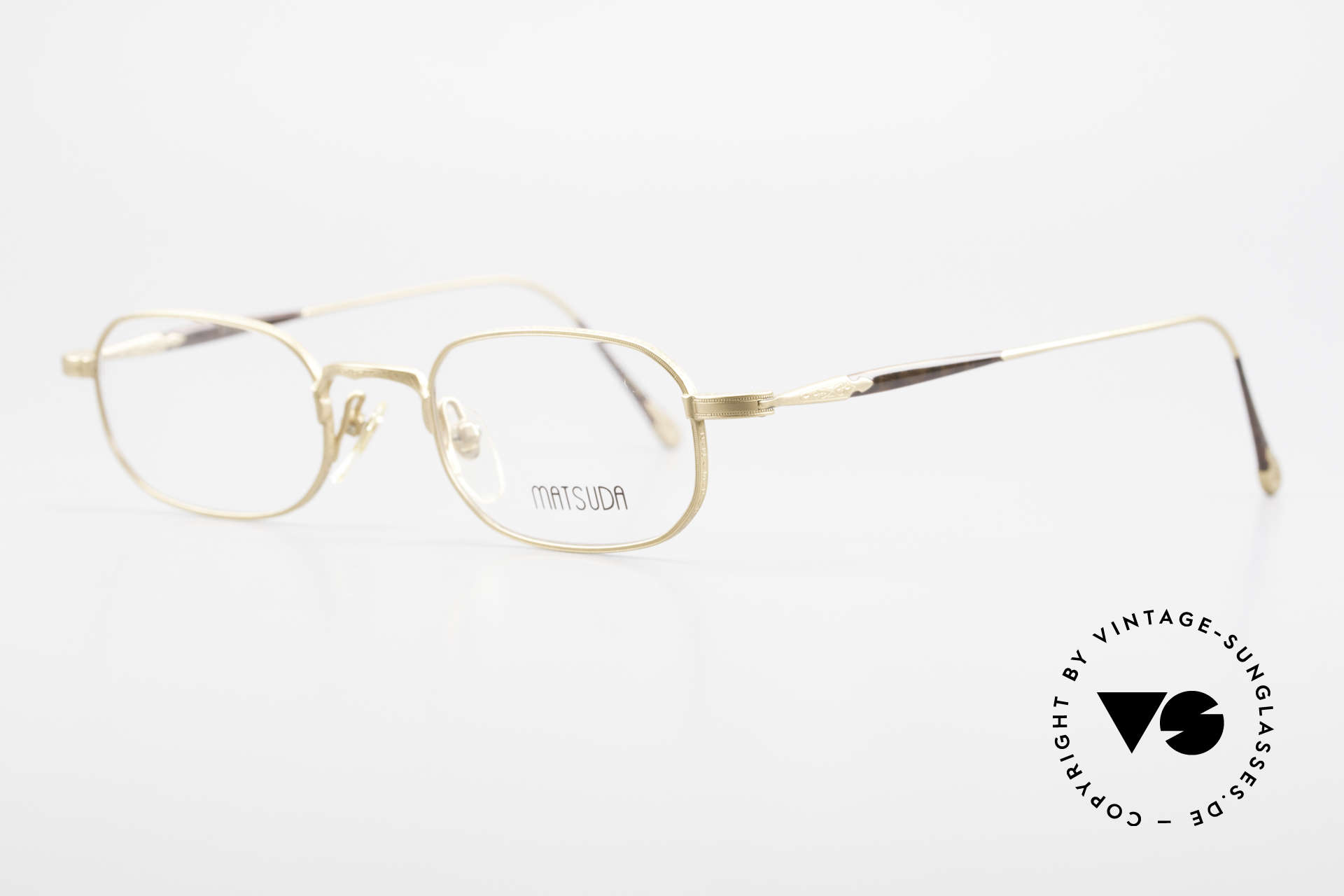 Matsuda 10108 Men's Eyeglasses 90's High End, the full metal frame is decorated with tiny engravings, Made for Men