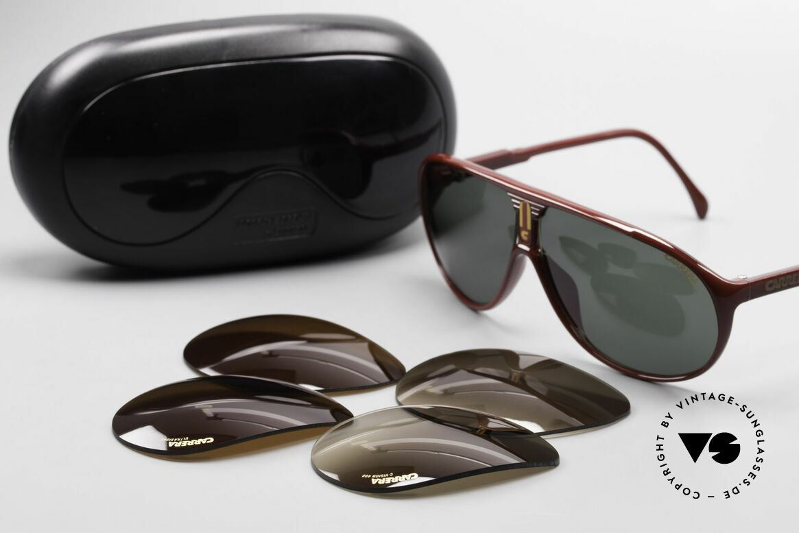 Carrera 5412 3 Sets Of Different Sun Lenses, NO RETRO SHADES, but an app. 30 years old ORIGINAL!, Made for Men and Women