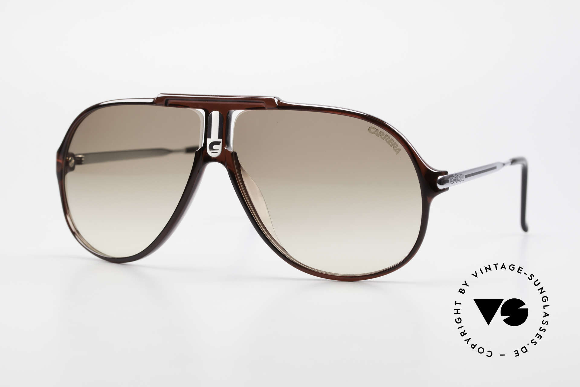Carrera 5590 3 Sets Interchangeable Lenses, simply ingenious 80's vintage sunglasses by CARRERA, Made for Men