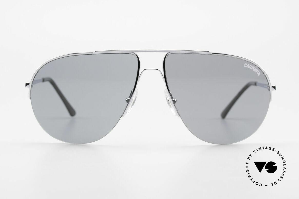 Carrera 5589 Large 80's Aviator Sunglasses, half rimless (lightweight - very pleasant to wear), Made for Men