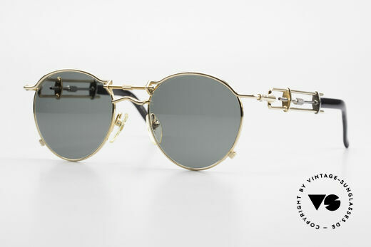 Jean Paul Gaultier 56-0174 90's Steampunk Shades Tupac Details