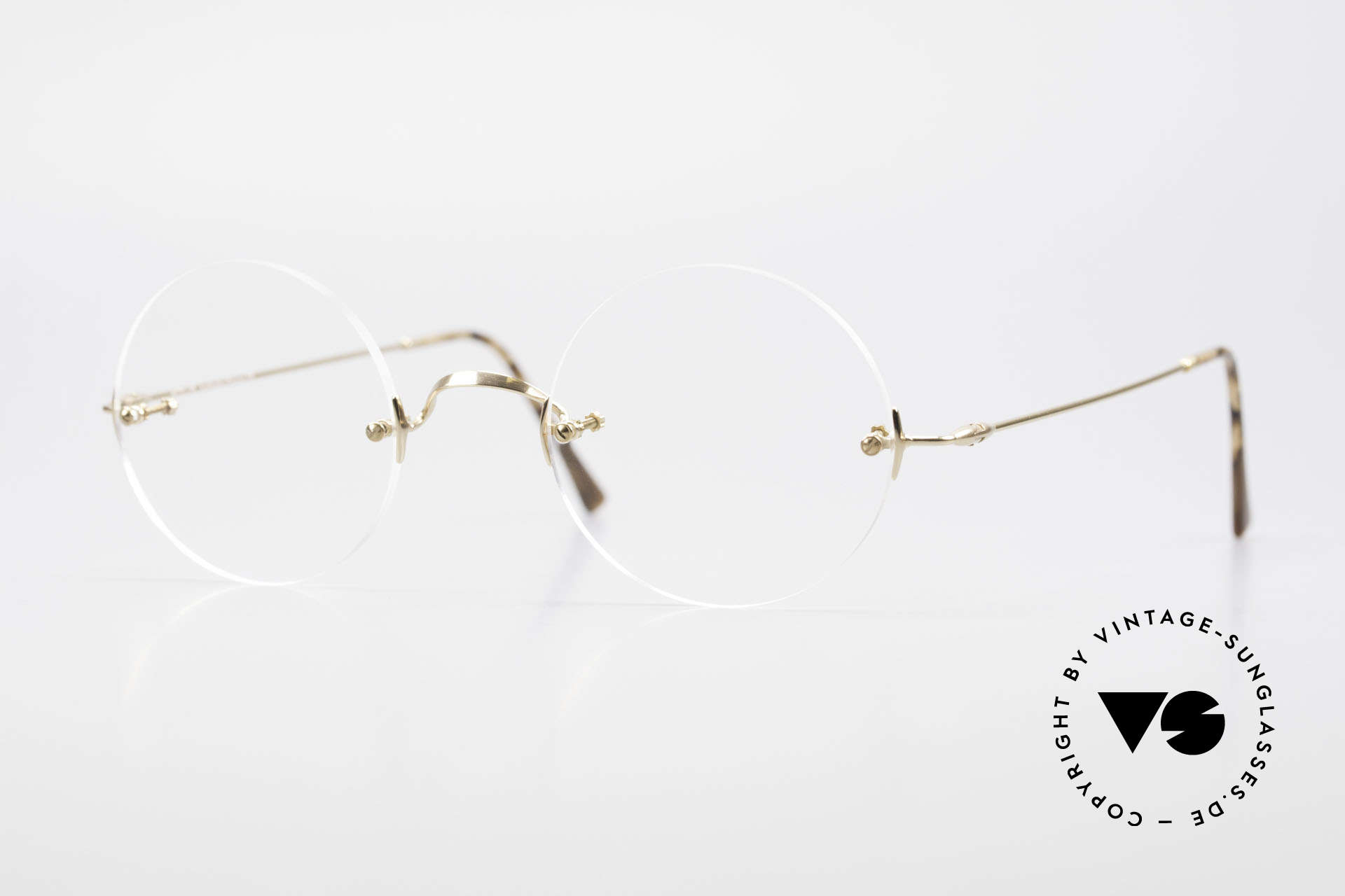 Lunor Classic Round GP Steve Jobs Glasses Rimless, LUNOR Classic Round is THE STEVE JOBS EYEGLASSES, Made for Men and Women